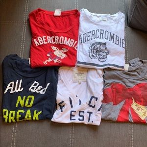 5 pcs of Abercrombie & Fitch T shirts